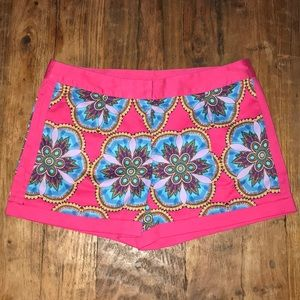 EUC Nicole by Nicole Miller Pink Graphic Shorts 4